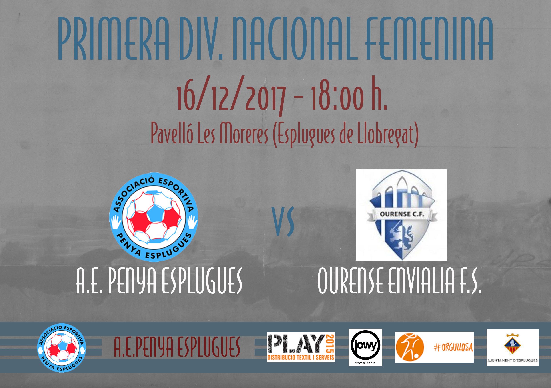 Prèvia AE Penya Esplugues vs Ourense Envialia FS