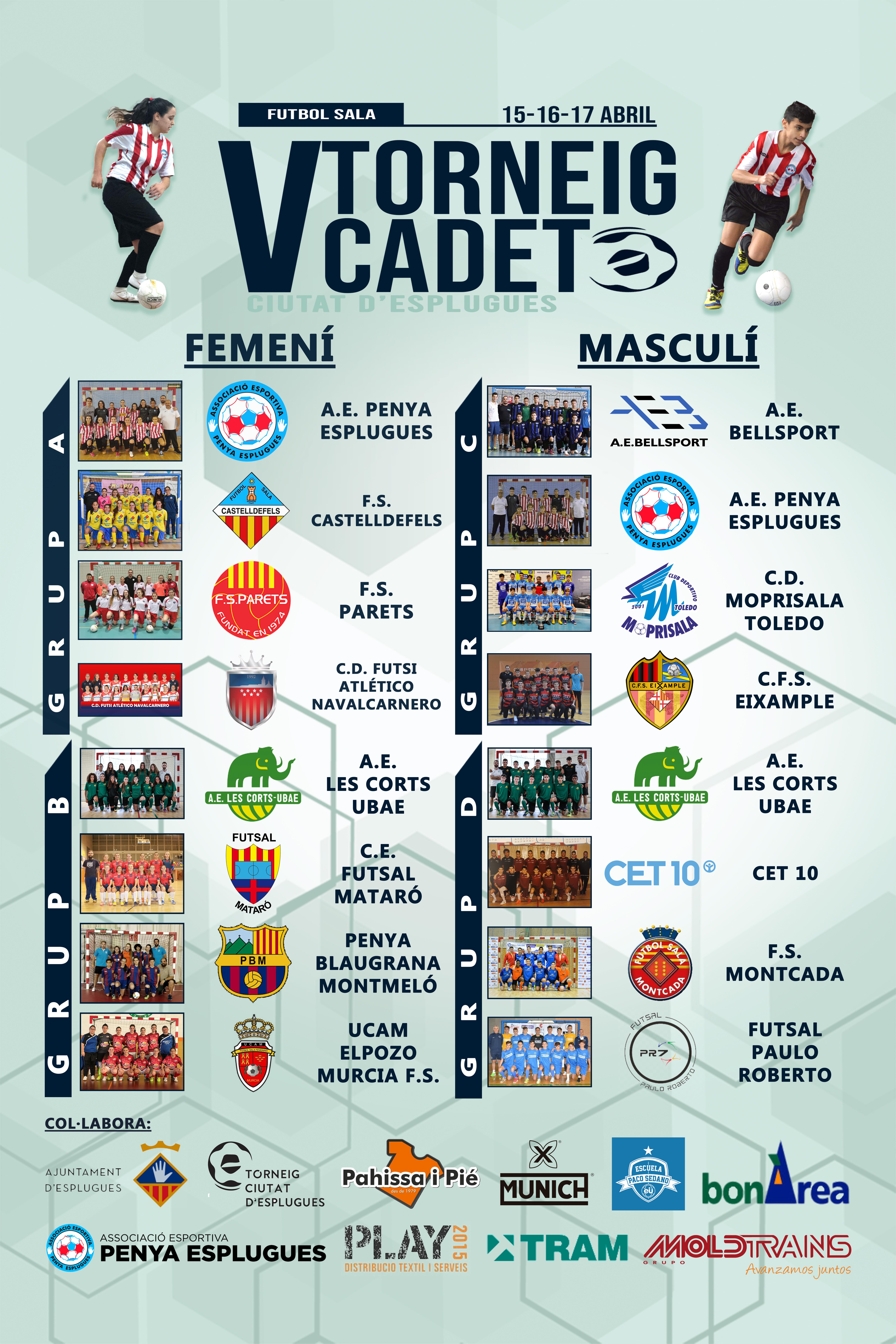 El Torneig Ciutat d'Esplugues de futbol sala reuneix 16 equips i 250 futbolistes || El Torneo Ciutat d'Esplugues de fútbol sala reúne a 16 equipos y 250 futbolistas