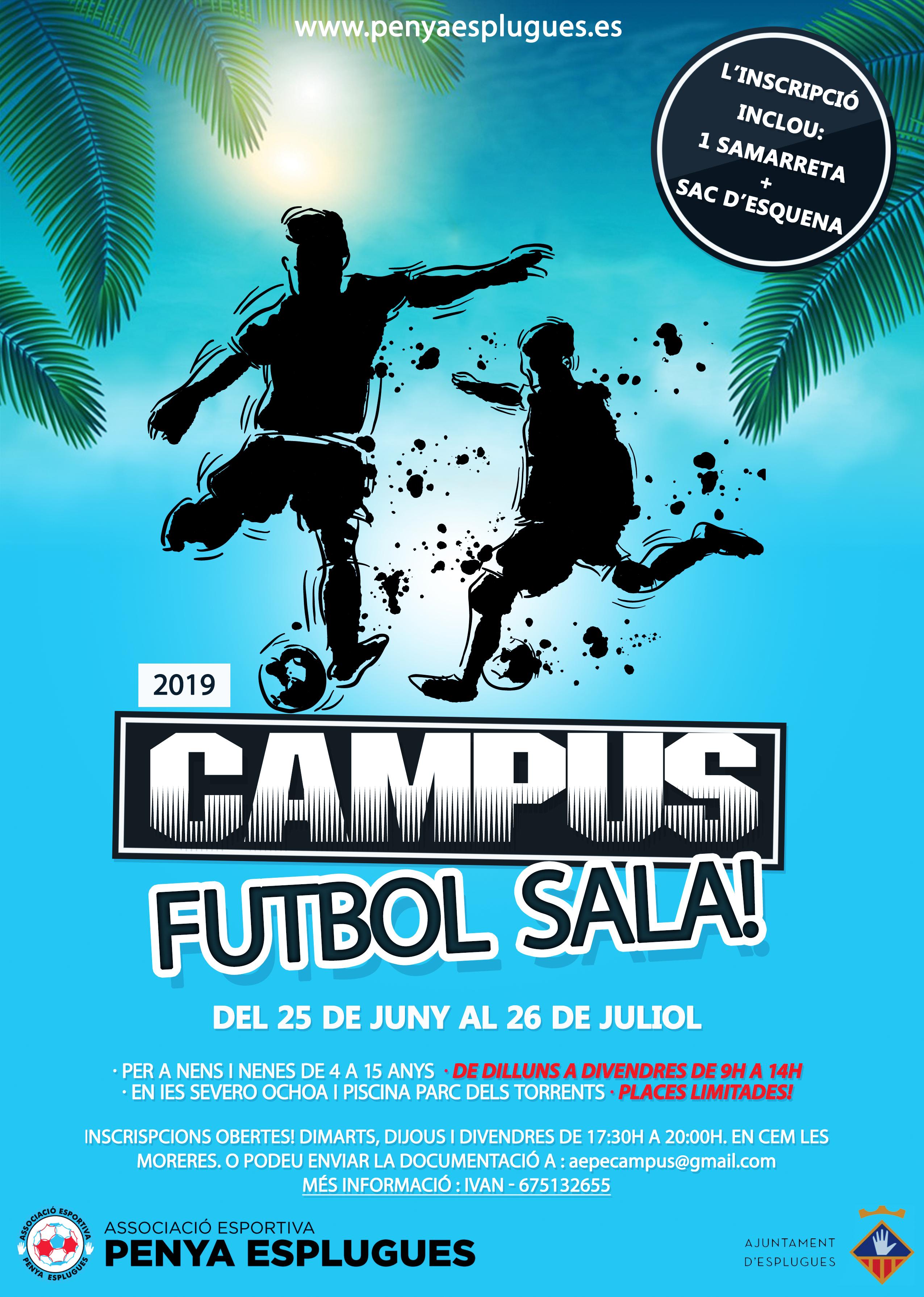 Campus d'estiu Futbol Sala de l'AEPE || Campus de verano de Fútbol Sala de la AEPE