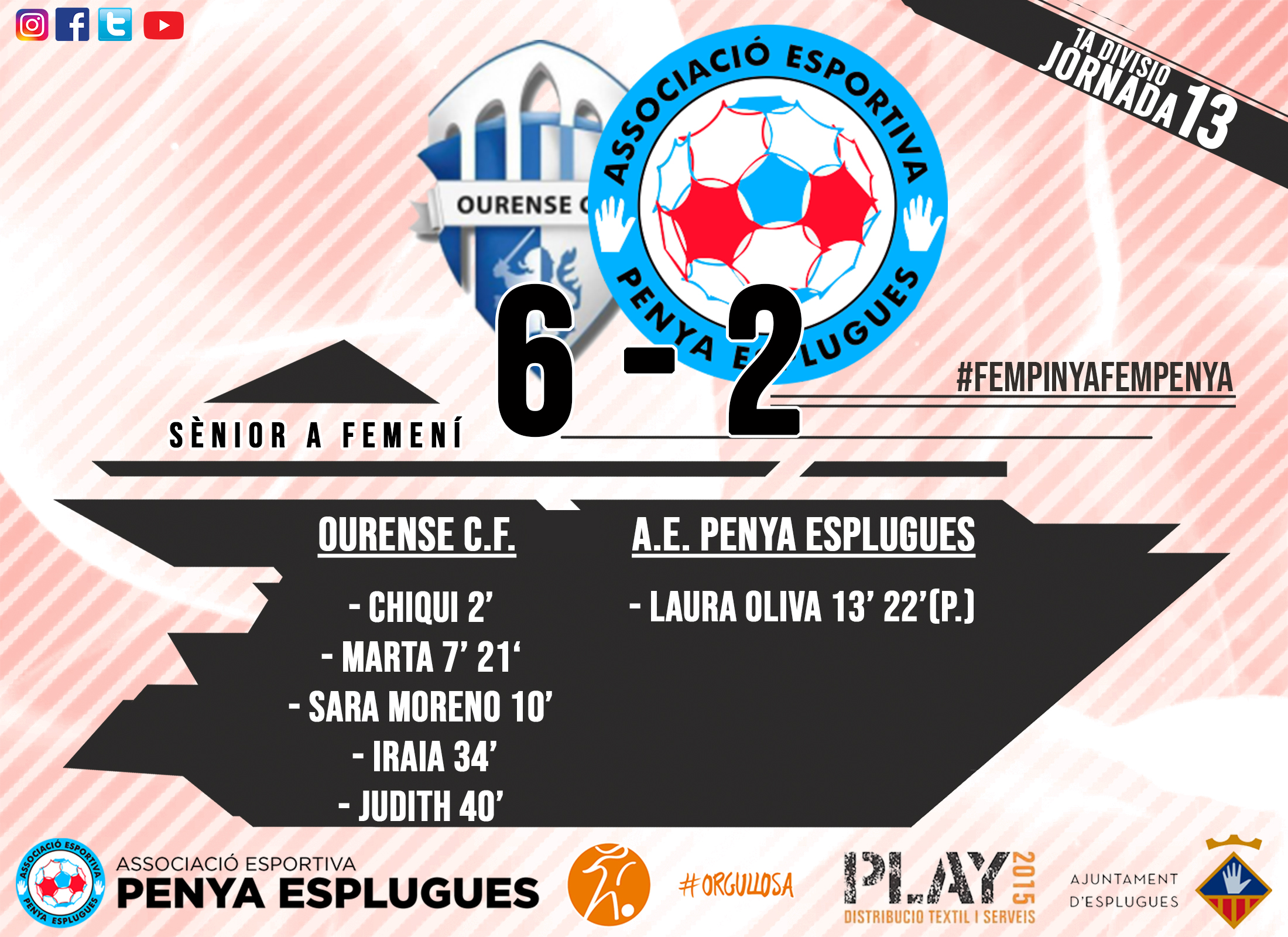 CR 13A JORNADA FEM CAT