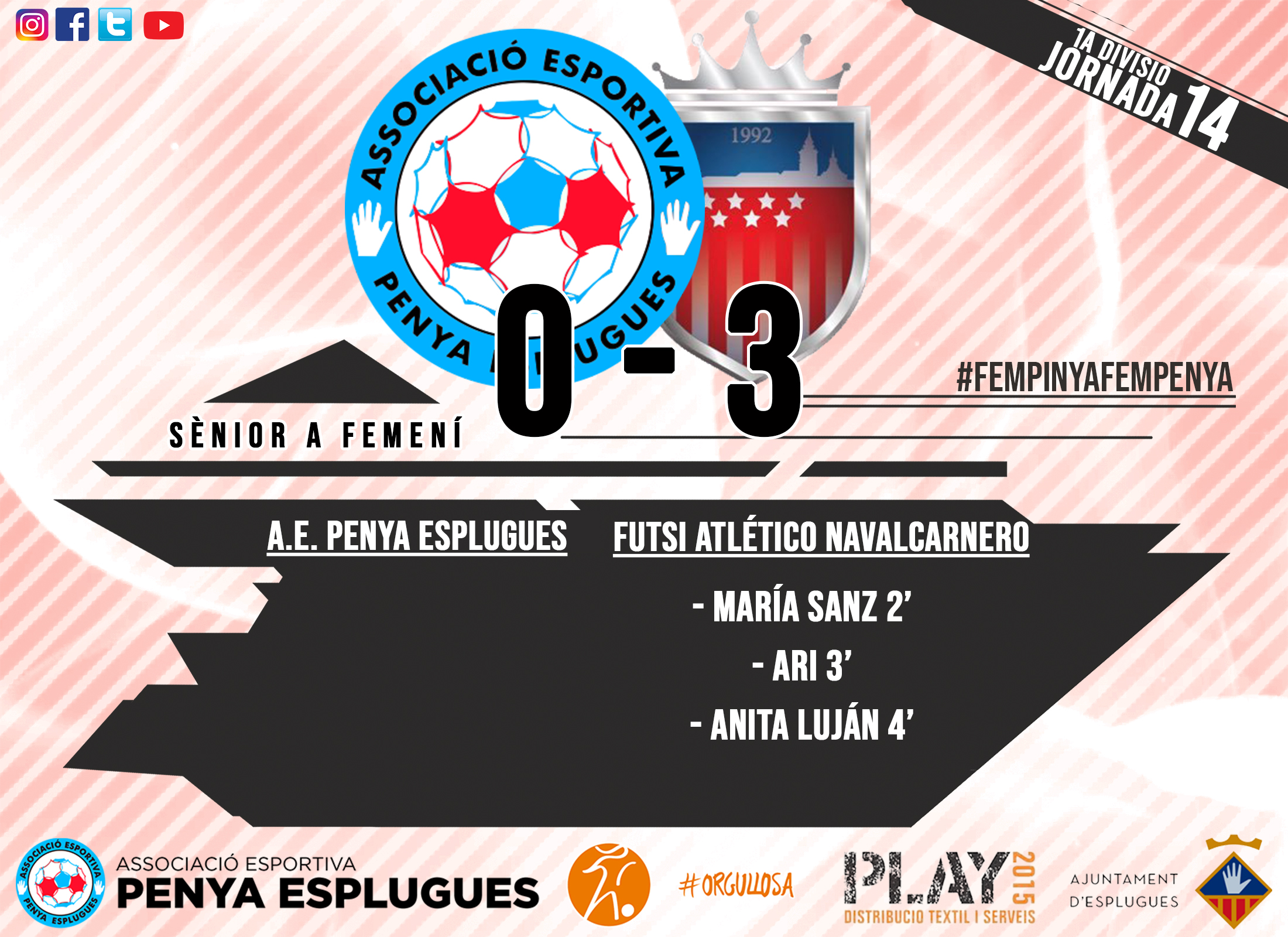 CR 14A JORNADA FEM CAT